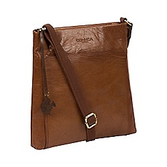 Conkca London - Conker brown 'Dink' handcrafted leather cross-body bag
