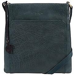 Conkca London - Denim 'Dink' handcrafted leather bag
