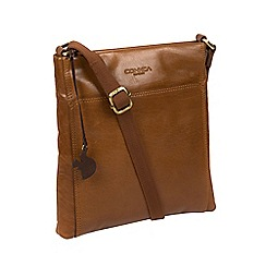Conkca London Dark Tan Handmade Leather Cross Body Bag