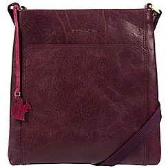 Conkca London - Plum 'Dink' handcrafted leather crossbody bag
