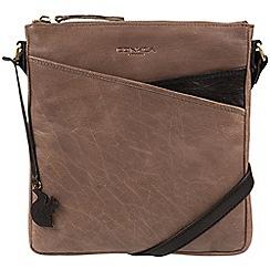 Conkca London - Brown & black 'Avril' hancrafted leather handbag