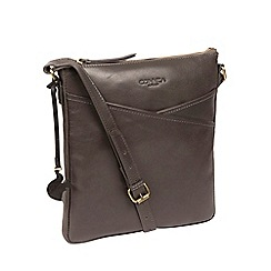 Conkca London Slate Avril Leather Cross Body Bag