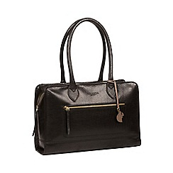 Conkca London - Black 'Mona' handmade leather handbag