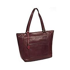 Conkca London - Monique' plum leather tote bag