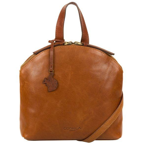 and tan handmade cross Conkca brown 'Ingrid' conker bag body leather Dark London xtzr0x
