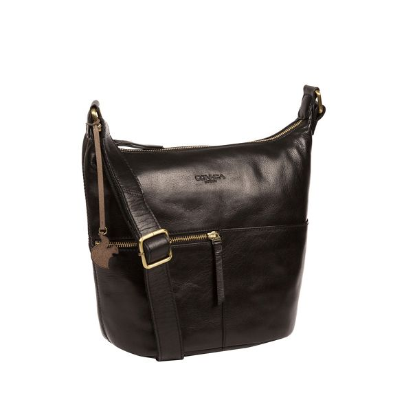 Conkca London leather handmade 'Kristin' Black bag q6Hwpq8rx