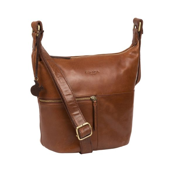 bag leather Conker Conkca handcrafted 'Kristin' brown London nwOqTqHz
