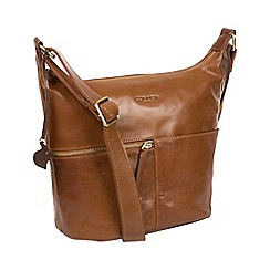 Conkca London - Dark tan 'Kristin' handmade leather bag