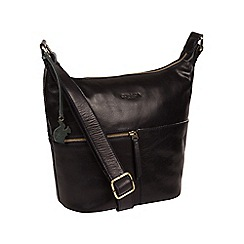 Conkca London - Navy 'Kristin' handcrafted leather bag