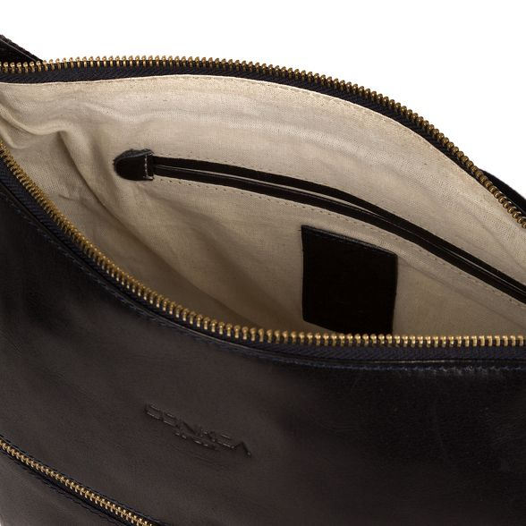 Navy bag Conkca 'Kristin' London leather handcrafted qwpBap5