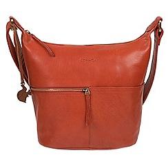 Conkca London Burnt Orange Kristin Handmade Leather Bag
