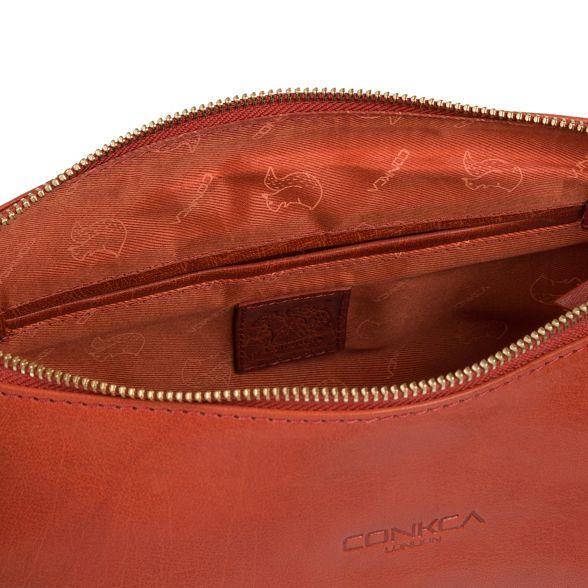 'Kristin' bag Conkca leather London orange handmade Burnt Ow4qT