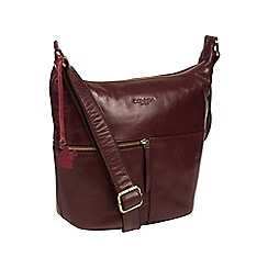Conkca London - Plum 'Kristin' handcrafted leather bag
