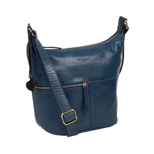 London leather Conkca blue Snorkel handmade 'Kristin' bag zwqgxqdFU