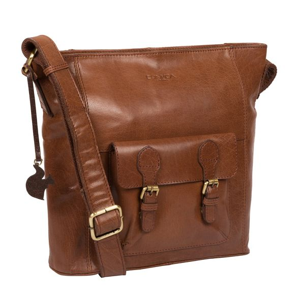 brown leather London bag 'Robyn' Conker Conkca handcrafted q6aBExH