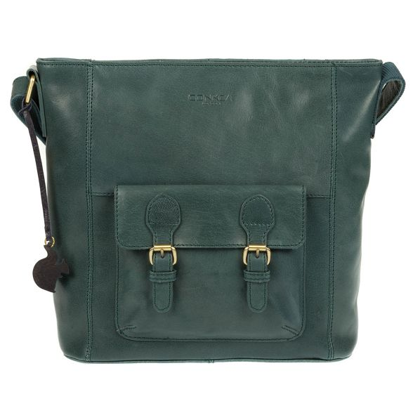 Conkca handmade leather bag Denim 'Robyn' London PrntPAp