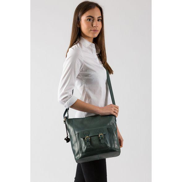 Conkca handmade leather bag Denim 'Robyn' London PrntPAp