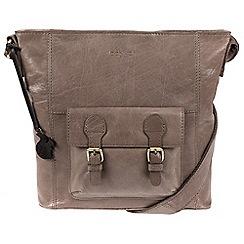 Conkca London - Dark Grey 'Robyn' handcrafted leather bag