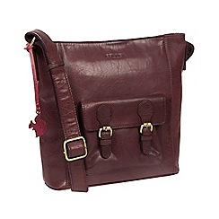 Conkca London - Plum 'Robyn' handcrafted leather crossbody bag