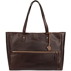 Conkca London - Brown 'Maize' handcrafted leather handbag