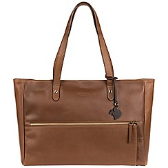 Conkca London - Chestnut 'Maize' handcrafted leather handbag