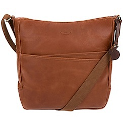 Conkca London - Whiskey 'Bow' genuine leather bag