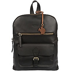 Conkca London - Black 'Grove' handcrafted leather small backpack