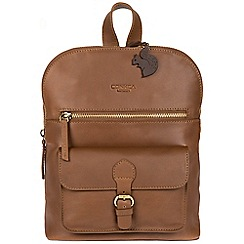 Conkca London - Chestnut 'Grove' handcrafted leather small backpack