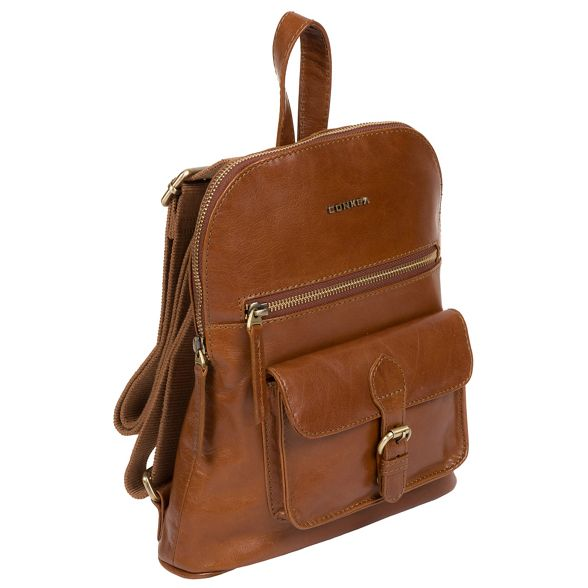 Tan 'Grove' small leather handcrafted Conkca London backpack 5awq7C