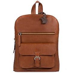 Conkca London - Whiskey 'Grove' genuine leather backpack