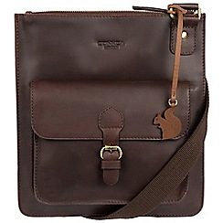 Conkca London - Brown 'Archway' handcrafted leather across body bag