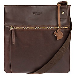 Conkca London - Brown 'Eden' handcrafted leather across body bag