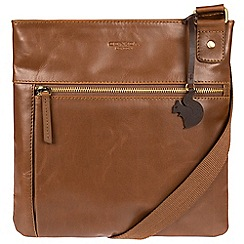 Conkca London - Chestnut 'Eden' handcrafted leather across body bag