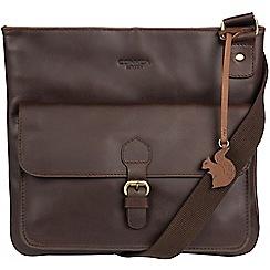 Conkca London - Brown 'Sudbury' handcrafted leather across body bag
