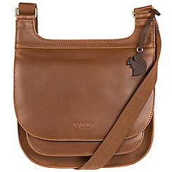 Conkca London - Chestnut 'Kew' handcrafted leather across body bag