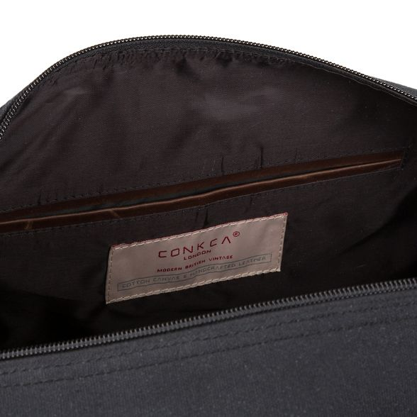 holdall 'Hackney' black Conkca canvas London Vintage Tfqw6A