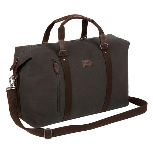 canvas holdall Conkca Grey London 'Hackney' tUtqROx