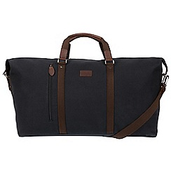 Conkca London - Vintage black 'Suttom' canvas holdall