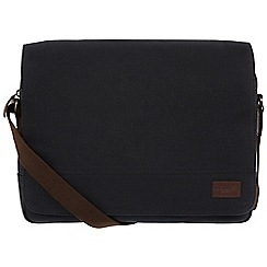 Conkca London - Vintage black 'Balham' canvas messenger bag