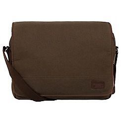 Conkca London - Khaki 'Balham' canvas and leather messenger bag