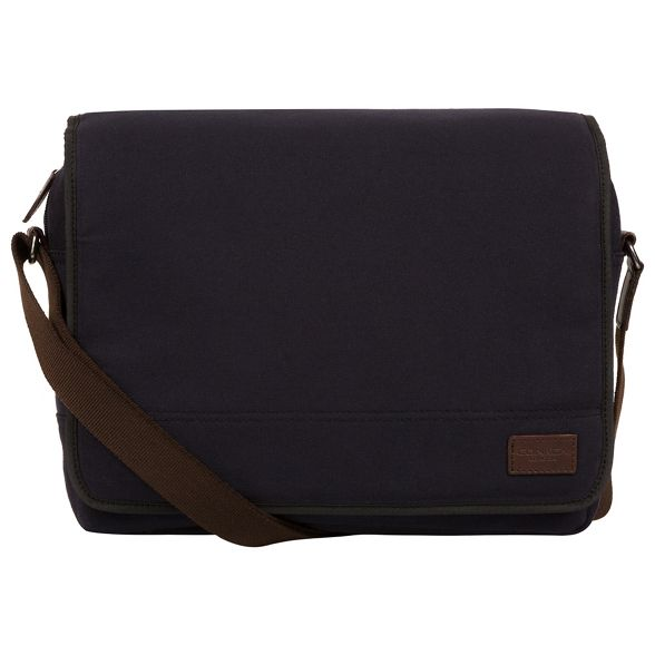 Navy messenger and canvas leather 'Balham' bag Conkca London zYAqw58TxS