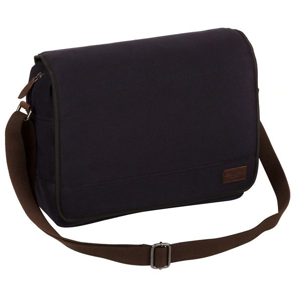 bag London Conkca messenger leather Navy 'Balham' canvas and C7SwqaOSx