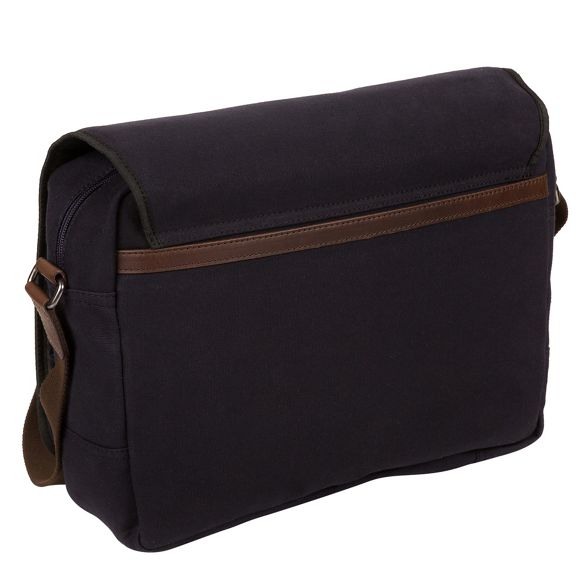 bag messenger canvas Navy 'Balham' leather and London Conkca nxUW701