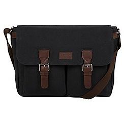 Conkca London - Vintage black 'Newington' canvas and leather messenger bag