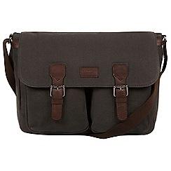 Conkca London - Grey 'Newington' canvas and leather messenger bag