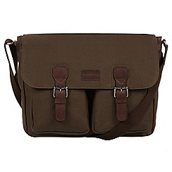 Conkca London - Khaki 'Newington' canvas and leather messenger bag