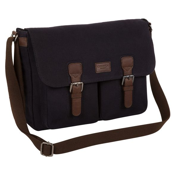 bag Conkca and canvas 'Newington' messenger London leather Navy CWqqxfOpRw