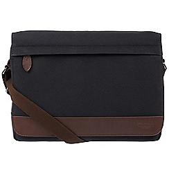 Conkca London - Vintage black 'Deptford' canvas and leather messenger bag