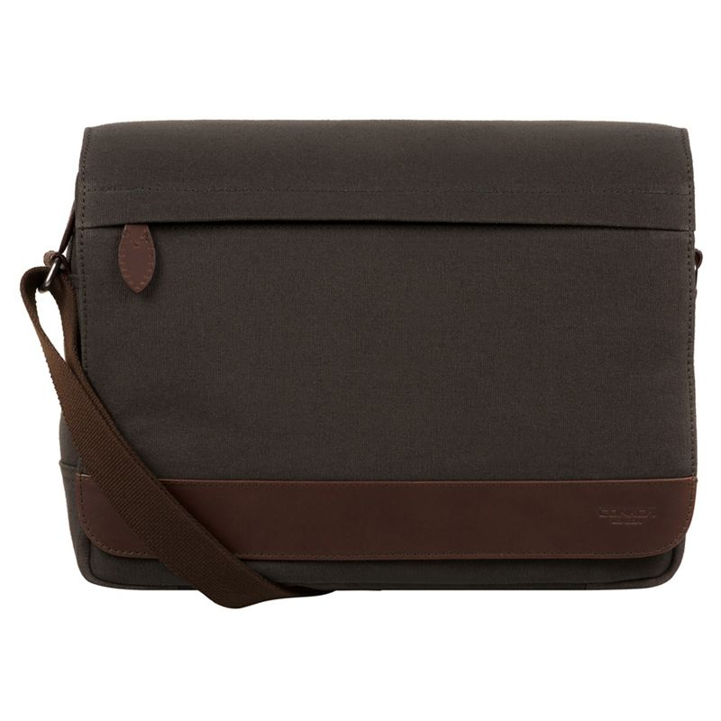 Conkca London - Slate Grey Deptford Canvas And Leather