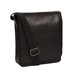 Conkca London - Vintage black 'Bowen' leather despatch bag